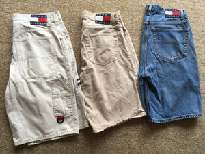 Sz 34 LEFT WHITE PAIR ONLY Tommy jean shorts