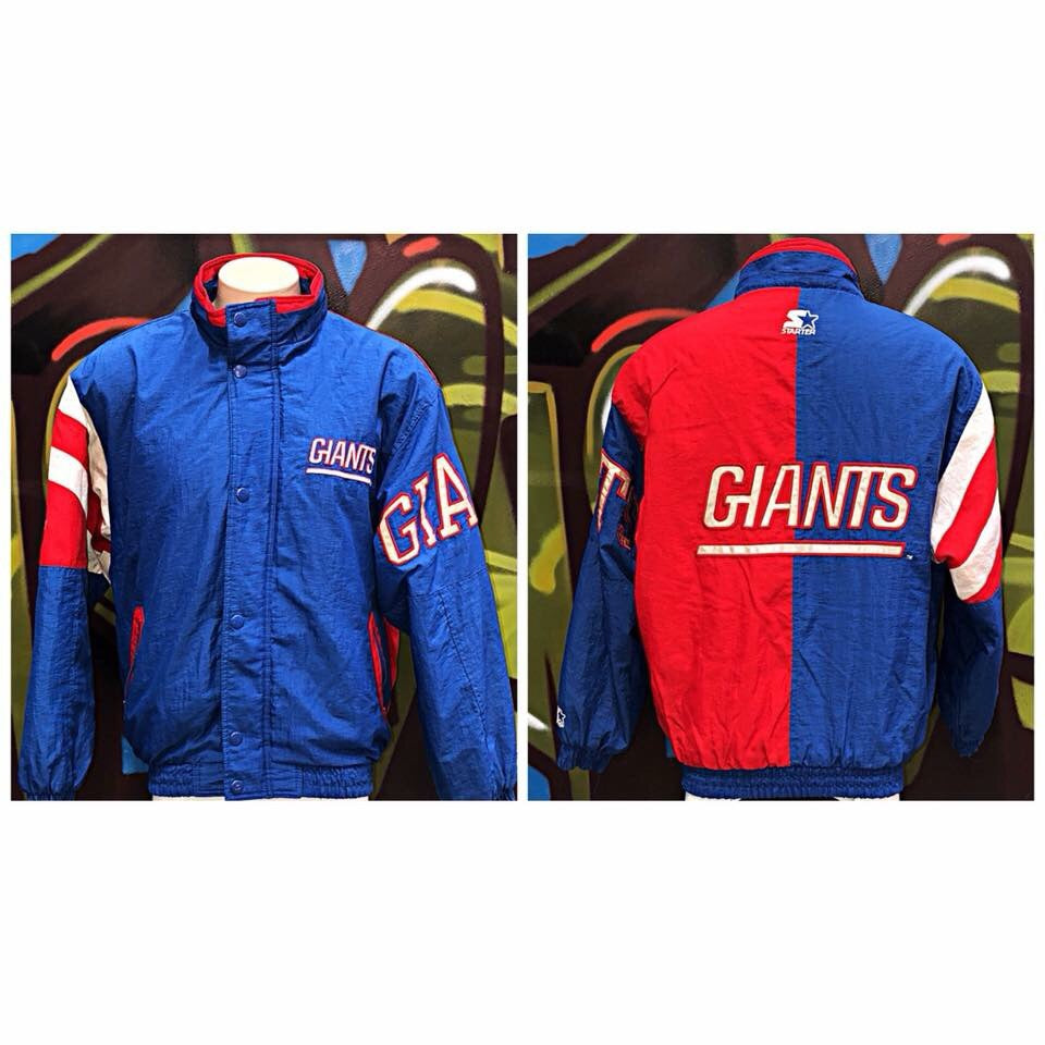 Adults M Vintage Starter NFL New York Giants Jacket