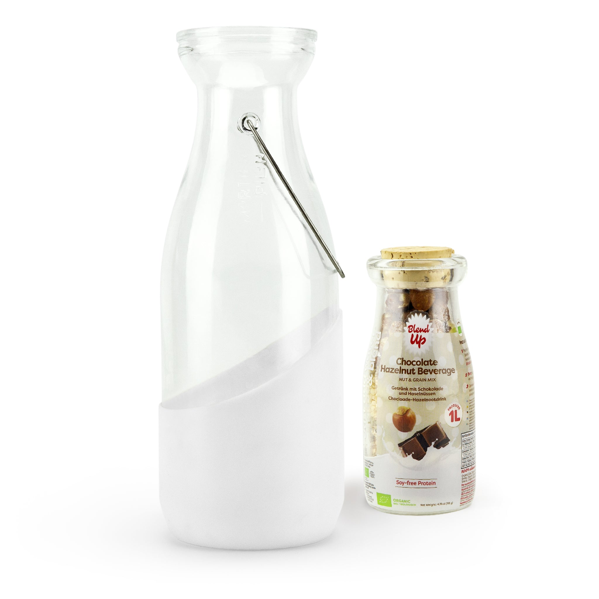 Blend Up Glass Milk Bottle + FREE Choco nut Mix