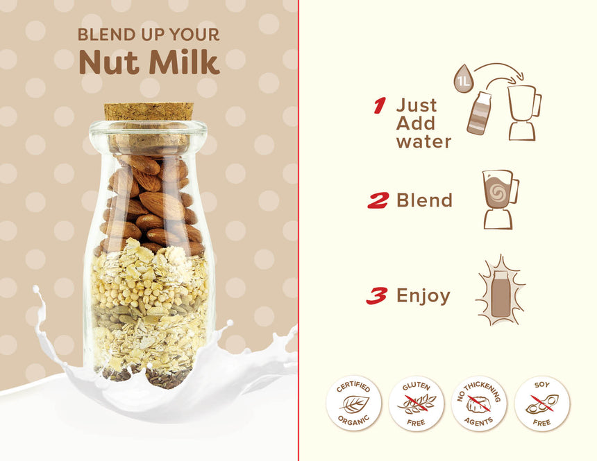 8x Blend Up Cashew & Vanilla Milk - Nut & Grain Mix