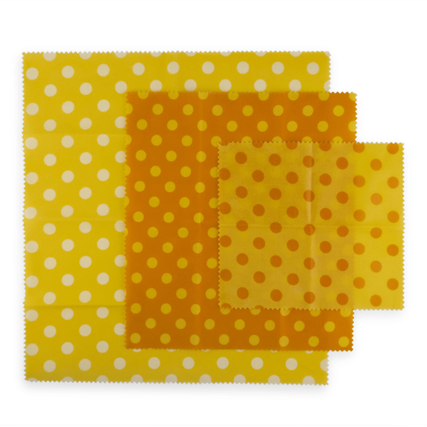 3 Reusable Beeswax Wraps