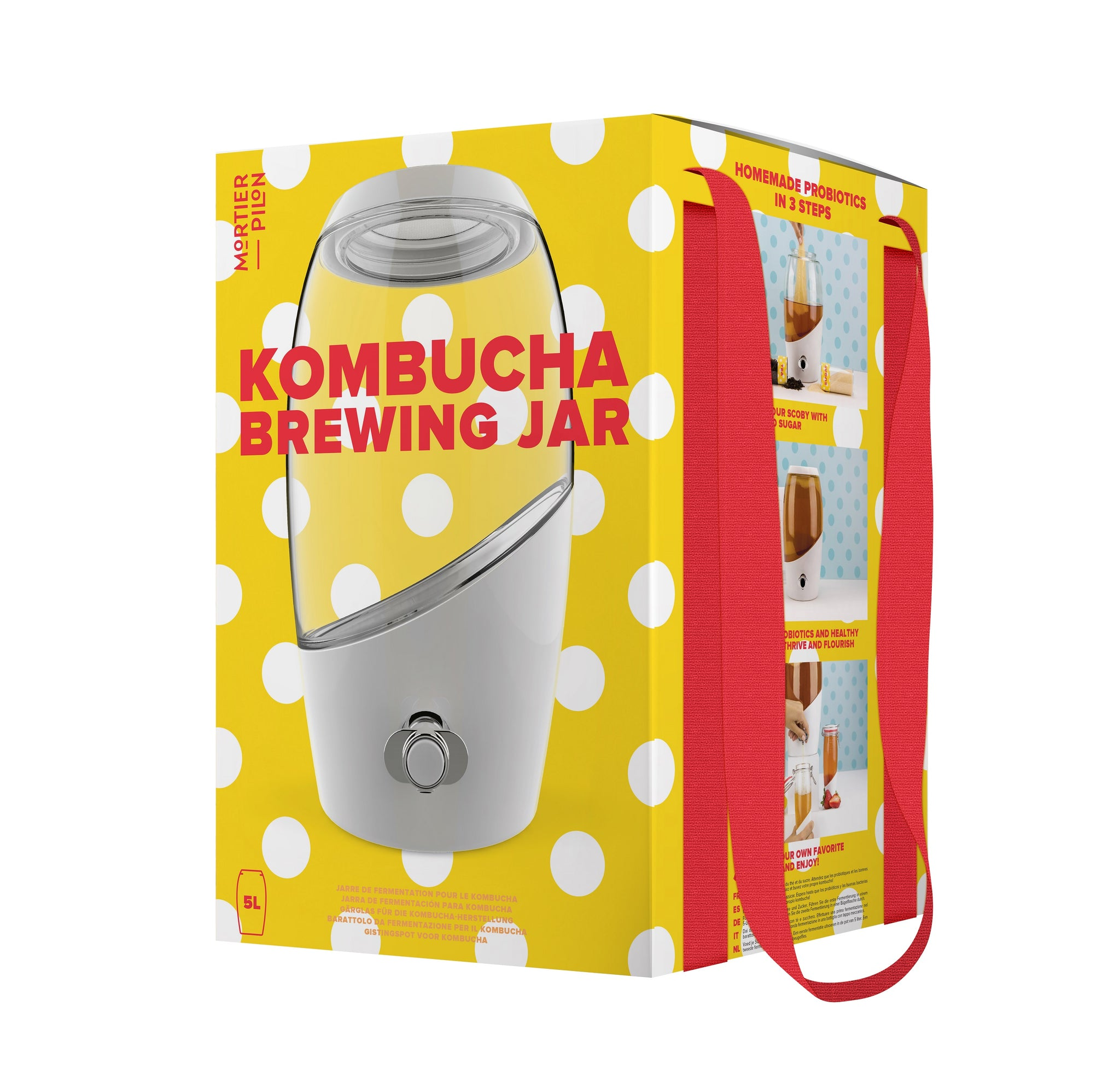 Kombucha Starter Kit with Glass Kombucha Crock + SCOBY