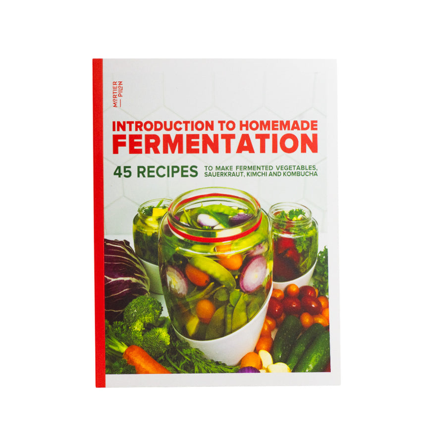 5L Glass Fermentation Jar with Ceramic Fermentation Weight and Recipe Book