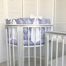 6 in 1 LUXE Silver Round Crib Transformer Colour: White