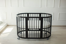 6 in 1 Round Crib Transformer Colour: Wenge