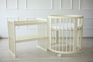 8 in 1 Round Crib Transformer Colour: Milky