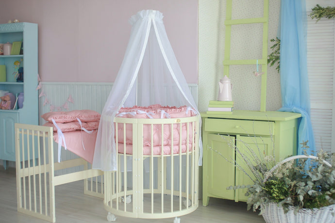 6 in 1 Round Crib Transformer Colour: Milky