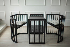 8 in 1 Round Crib Transformer Colour: Wenge