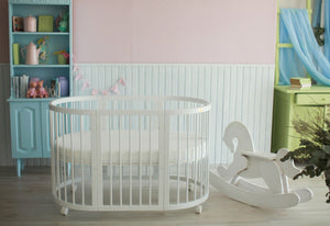 8 in 1 Round Crib Transformer Colour: White