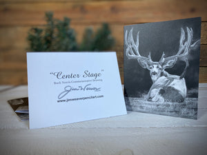 "Buck Norris Note Cards ""Center Stage"" 5 Pack"