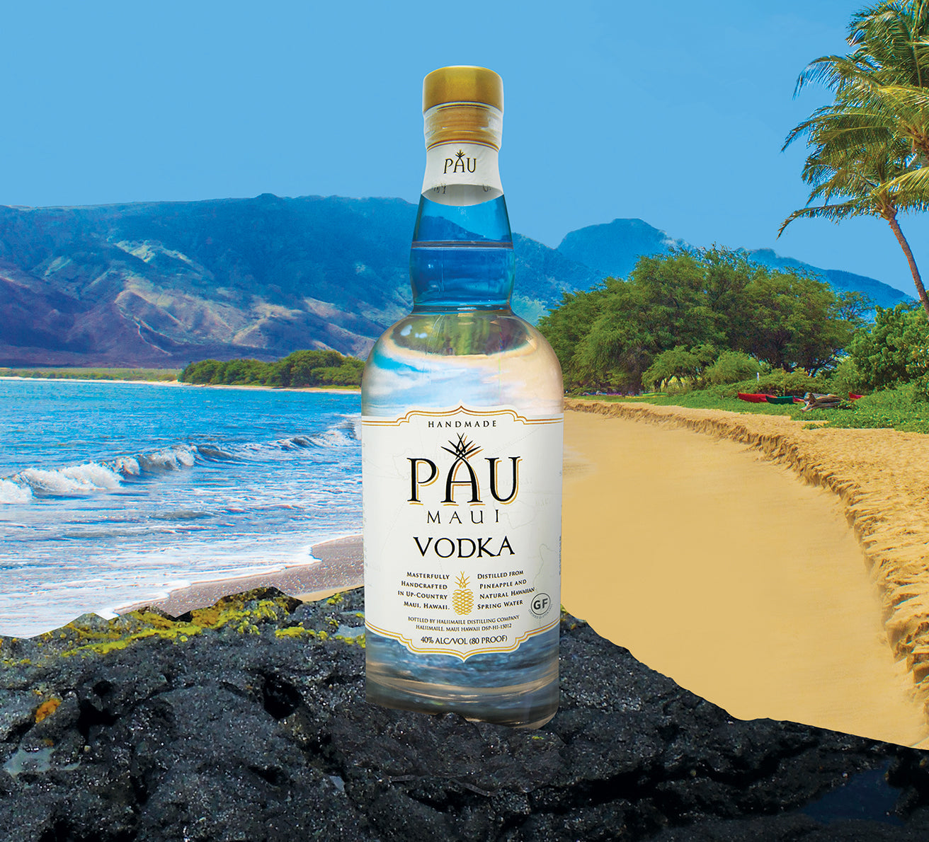 PAU Maui Vodka on Maui Beach