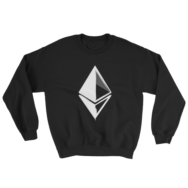 Ethereum Grunge Sweatshirt in Black
