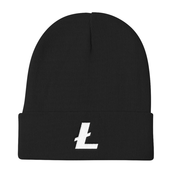 Litecoin Knit Beanie in Black