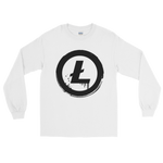Litecoin Grunge Long Sleeve T-Shirt on White