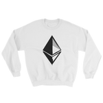 Ethereum Grunge Sweatshirt in White