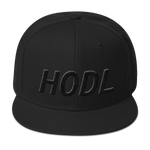 Hodl Black on Black Snapback Hat