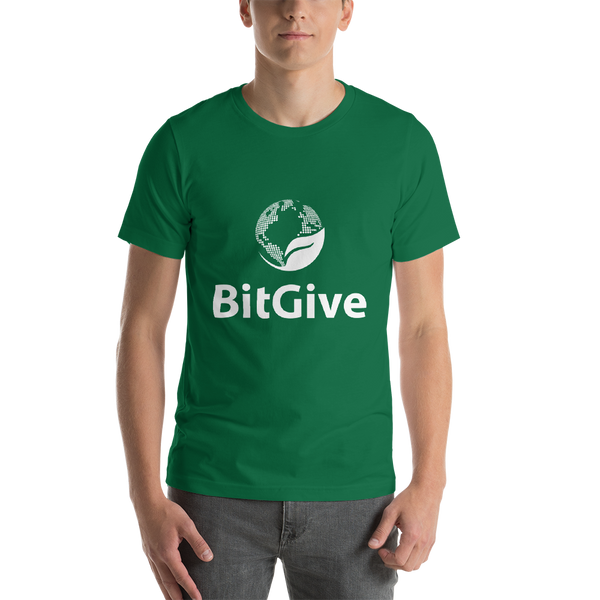 BitGive- Short-Sleeve Unisex T-Shirt - Vertical