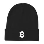 Bitcoin Knit Beanie in Black
