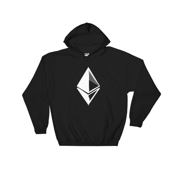 Ethereum Grunge Hooded Sweatshirt