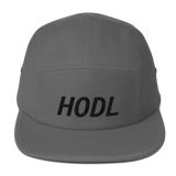 HODL Embroidered Five Panel Cap