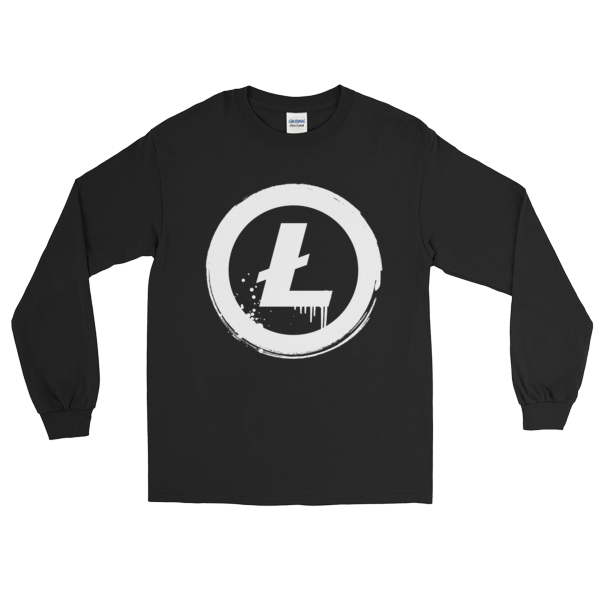 Litecoin Grunge Long Sleeve T-Shirt