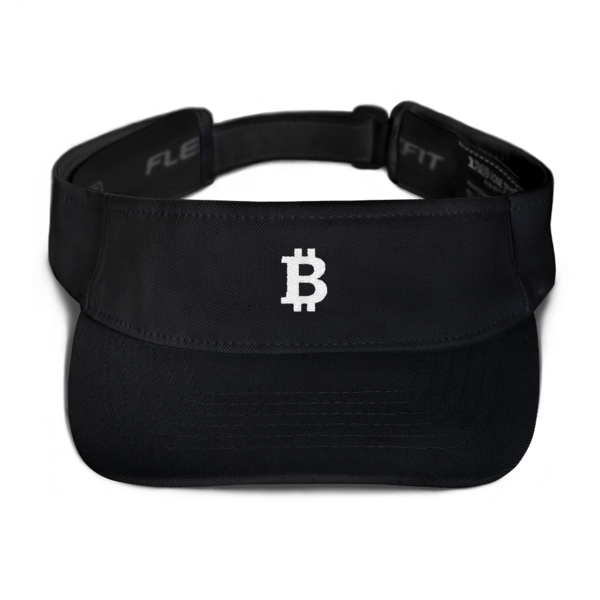 Black Bitcoin Embroidered Visor