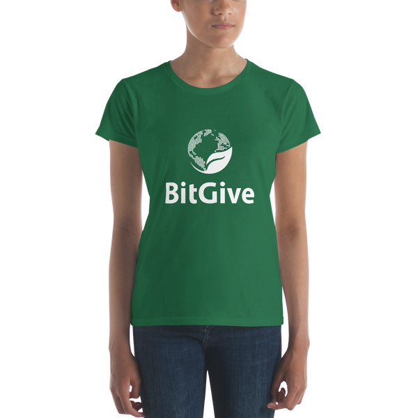 BitGive - Woman's Short-Sleeve T-Shirt - Vertical