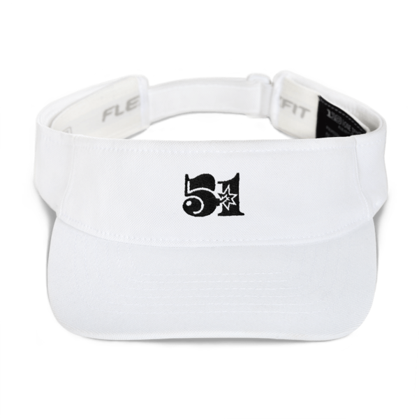 White 51 Attack Embroidered Visor