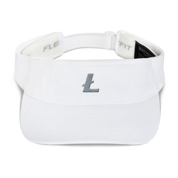 White Litecoin Embroidered Visor