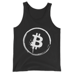 Bitcoin Grunge Unisex Tank Top in Black