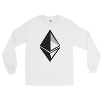 Ethereum Long Sleeve T-Shirt on White