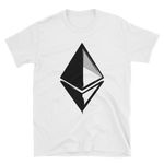 Ethereum Grunge Unisex T-Shirt in White