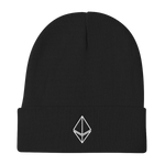 Ethereum Knit Beanie in Black