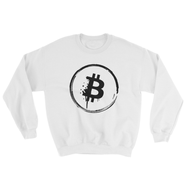 Grunge Bitcoin Sweatshirt in White