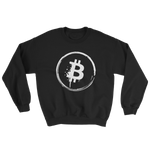 Grunge Bitcoin Sweatshirt in Black