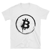 Bitcoin Grunge Unisex T-Shirt in White