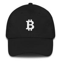 Bitcoin Classic Cap - White on Black