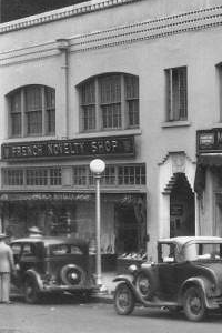 French Novelty Shop on West Adams Street, 1936, in Jacksonville, FL