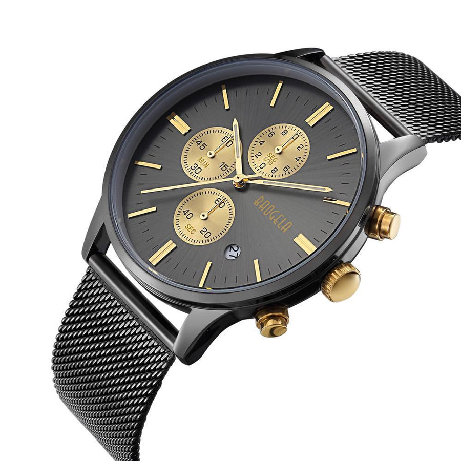 Slim Classic Chronograph - Black / Gold