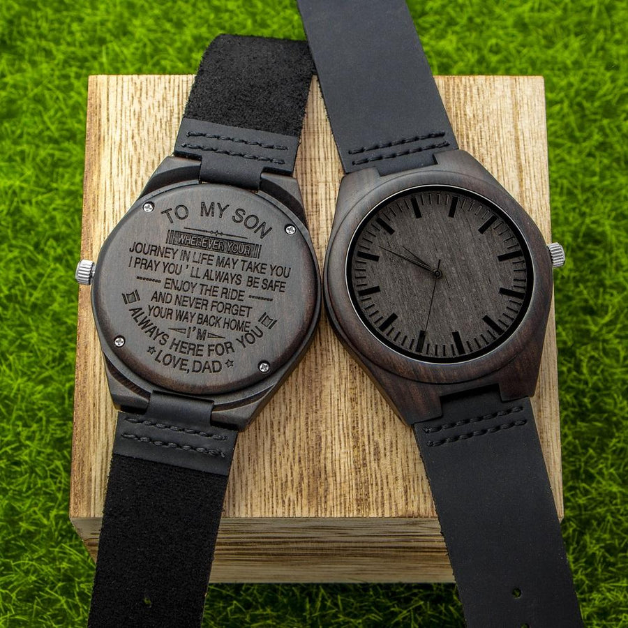 SF Personalized Wooden Watch