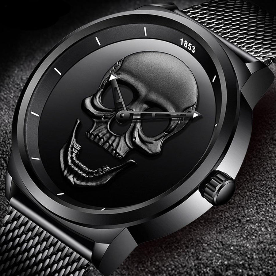Skull Metal Watch - Black