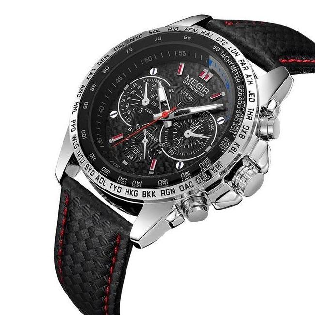 Megir Chronometer Hardlex Sport Watch