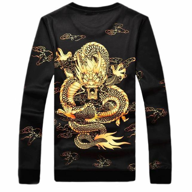 Black Golden Dragon Sweatshirt