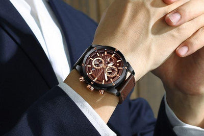 Gaviel Chronograph Leather Watch