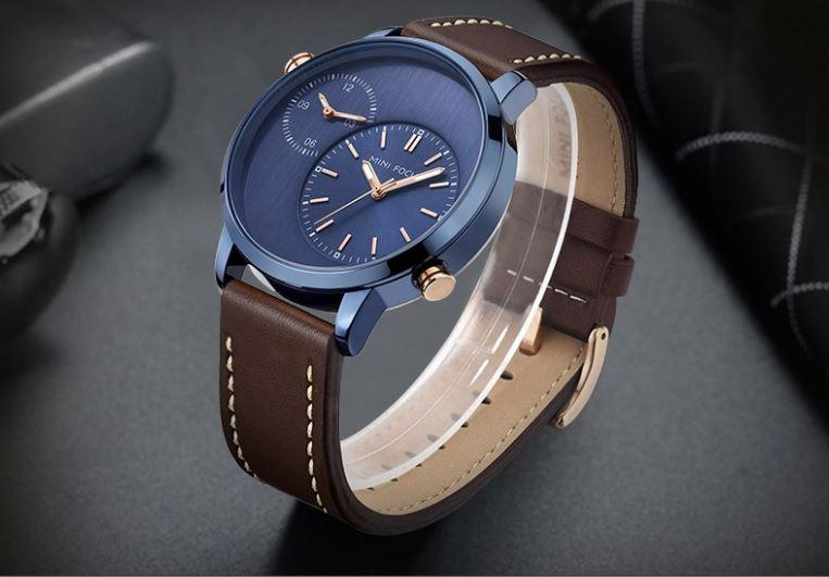 MF Dual Time Zone Leather Watch