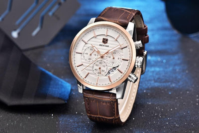 Danrei Classic Chronograph Leather Watch