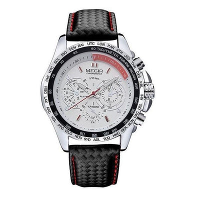 Chronometer Racer - White Silver