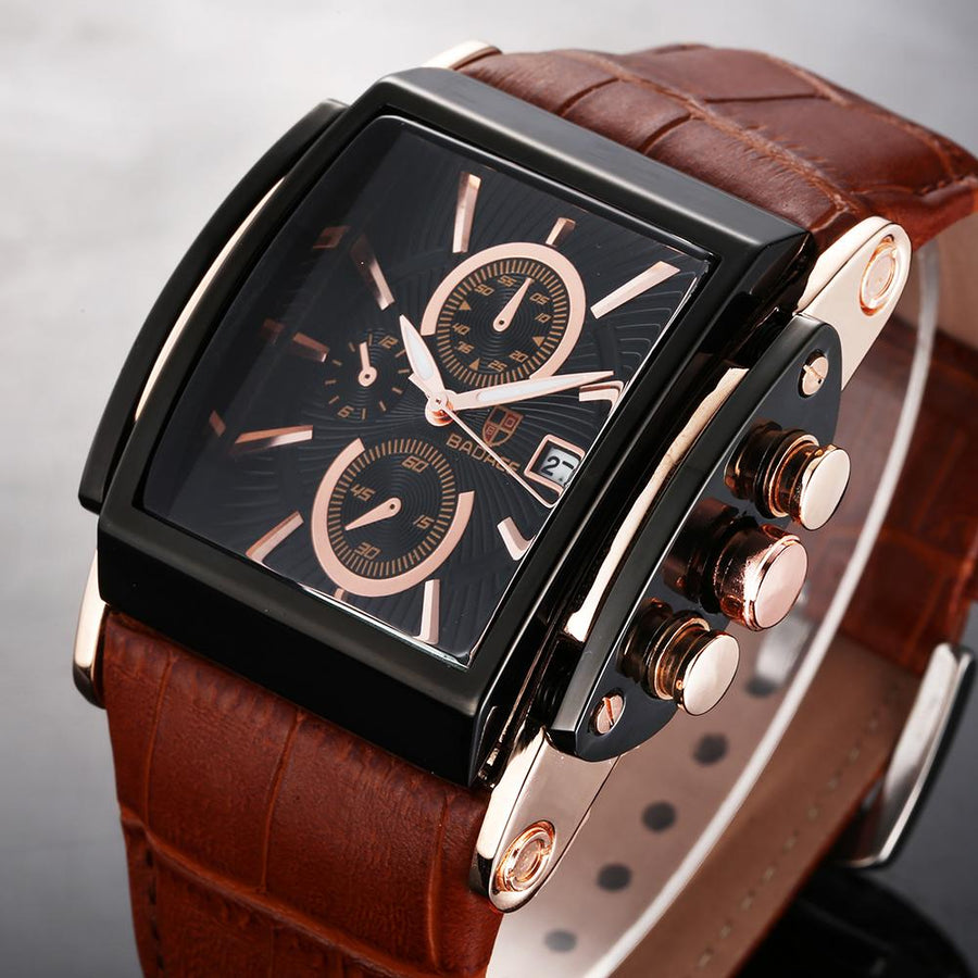 Neslich Square Leather Watch
