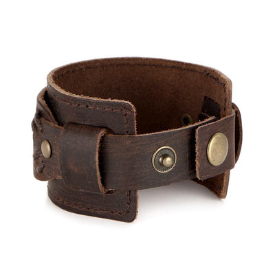 SF Leather Cuff Bracelet