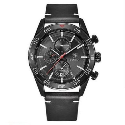 BENYAR Business Leather Chronograph Watch
